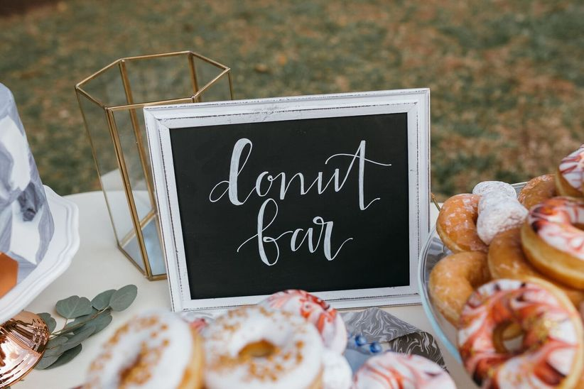 wedding donut bar