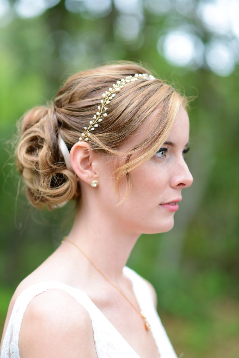 bridal updo crystal headband