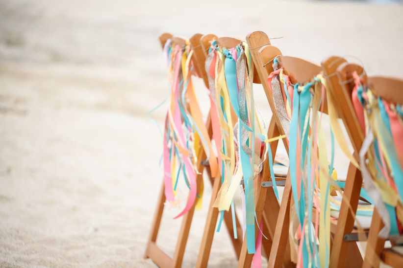 Ribbon Streamers ceremony chairs