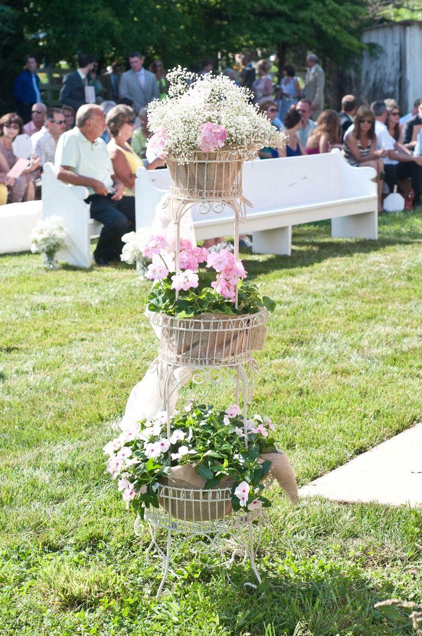 altar arrangements summer baskets