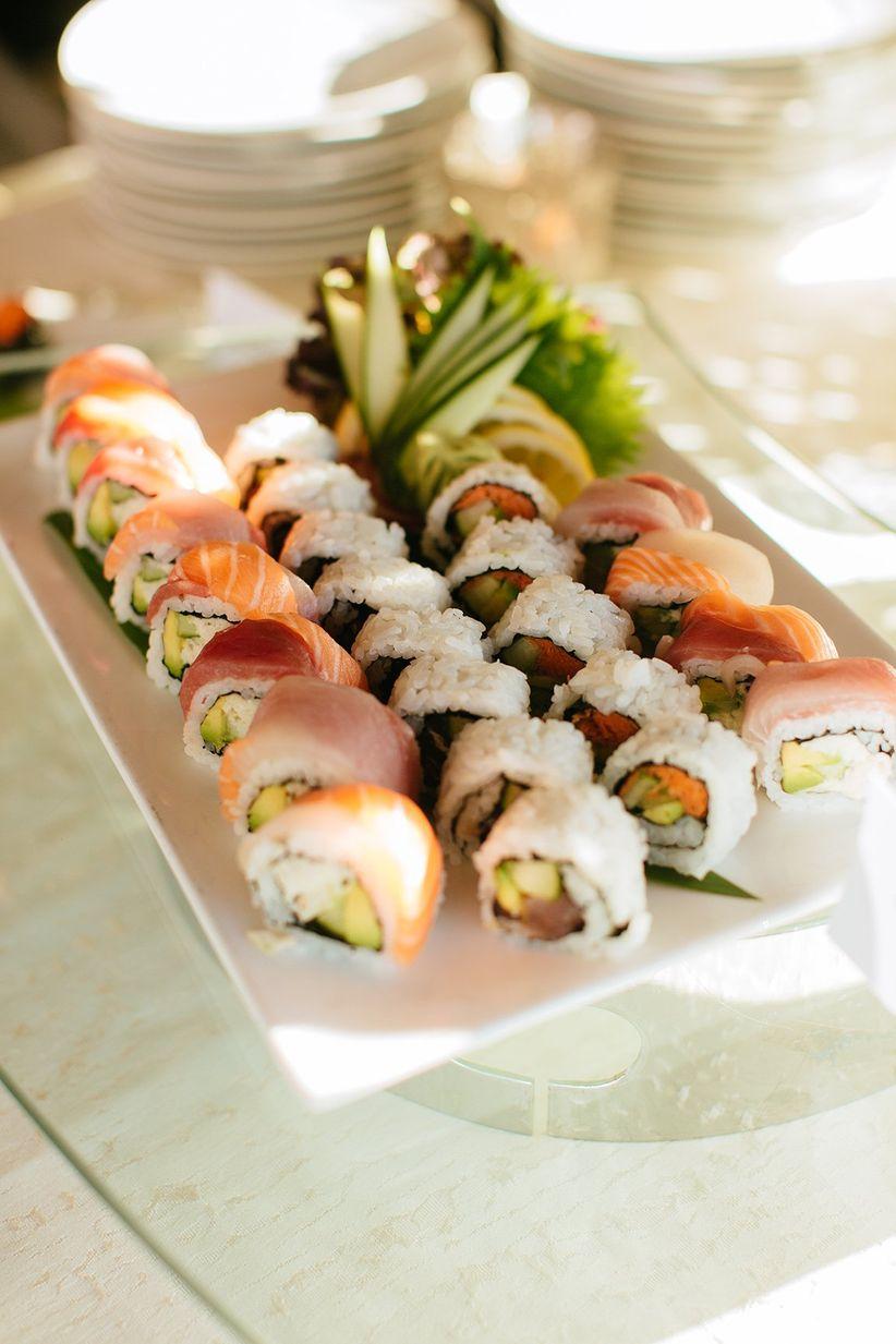 sushi platter at wedding