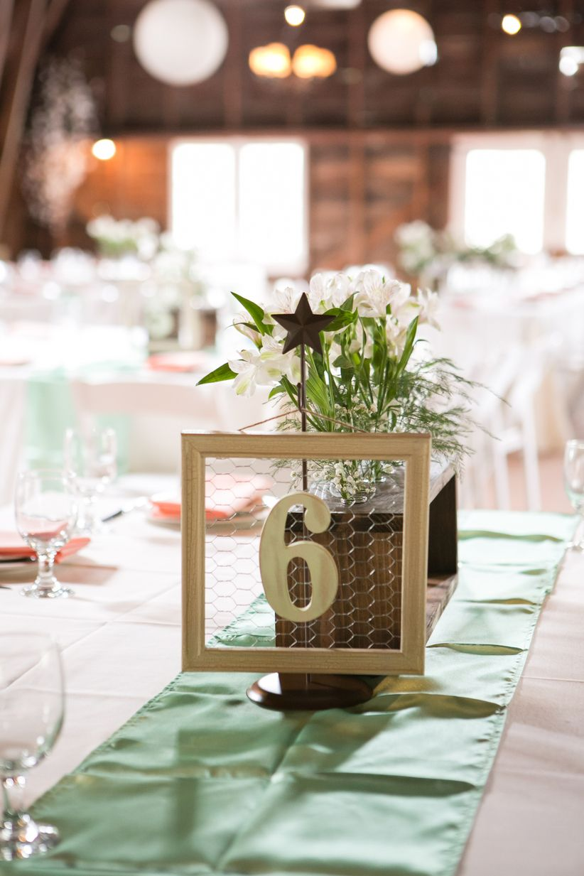 chicken wire table numbers