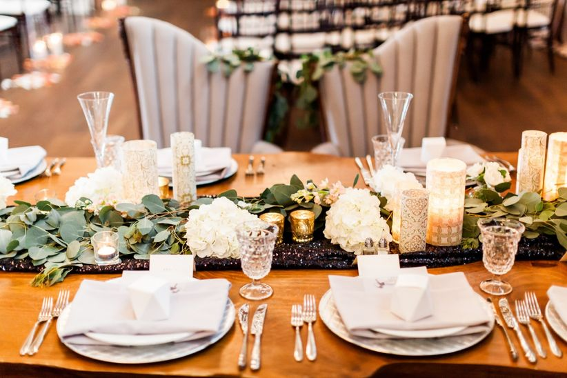 tablescape with flowers and candles