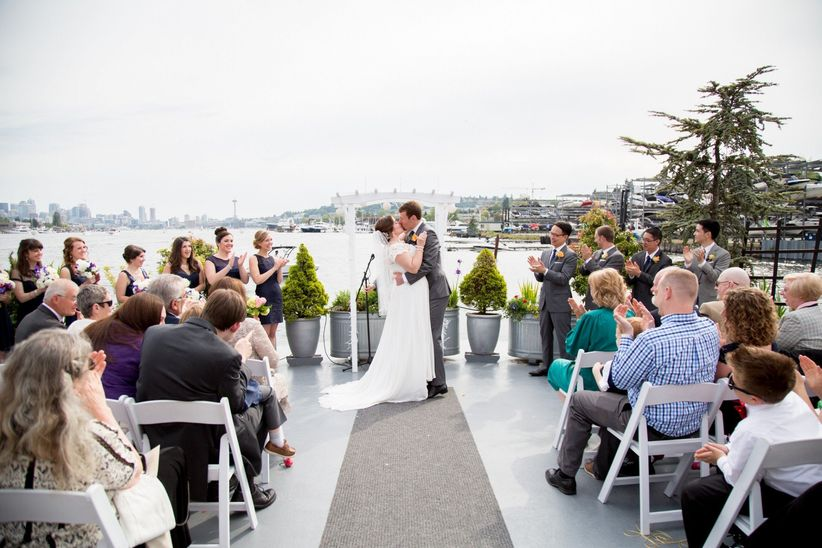 9 beautiful seattle wedding venues on the water weddingwire seattle wedding venues on the water junglespirit Image collections