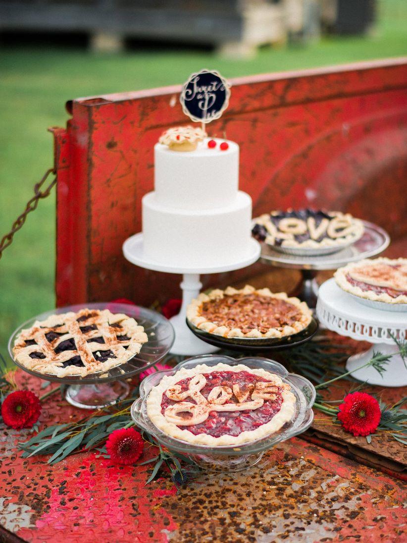 pie and cake dessert buffet
