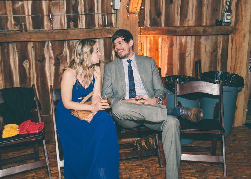 Guests Talking Barn Ohio Wedding Venue Reception