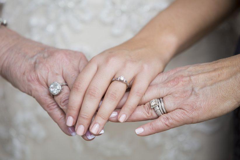three generations hands photo