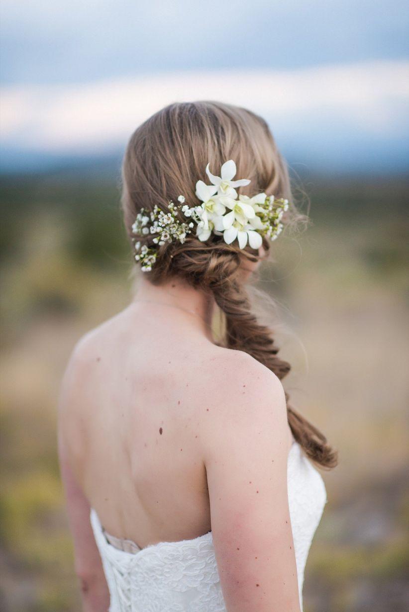 fishtail braid wedding hairstyles