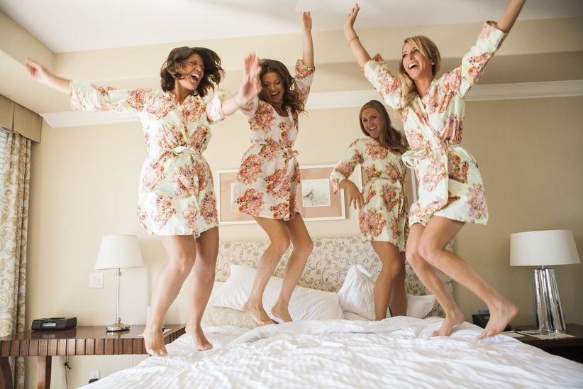 An open letter to my almost married best friend weddingwire best friend is getting married soon bridesmaids jumping on bed spiritdancerdesigns Choice Image