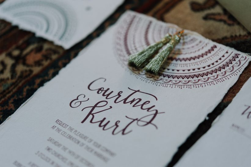 7 unique wedding ideas that use texture weddingwire texture invitations stationery junglespirit Image collections