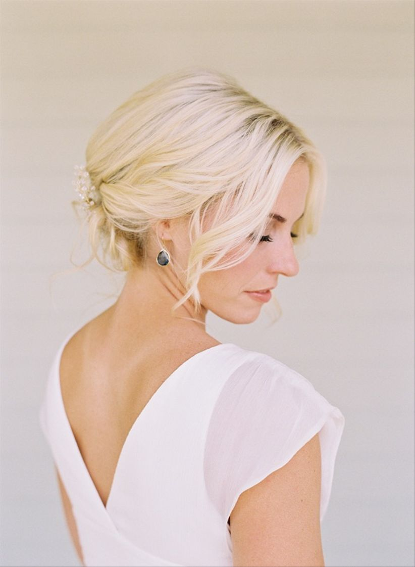 bride with loose updo