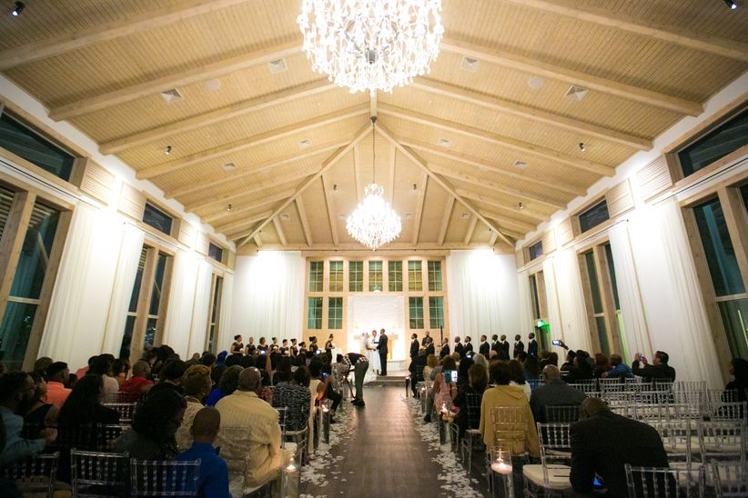 vaulted ceiling wedding venue