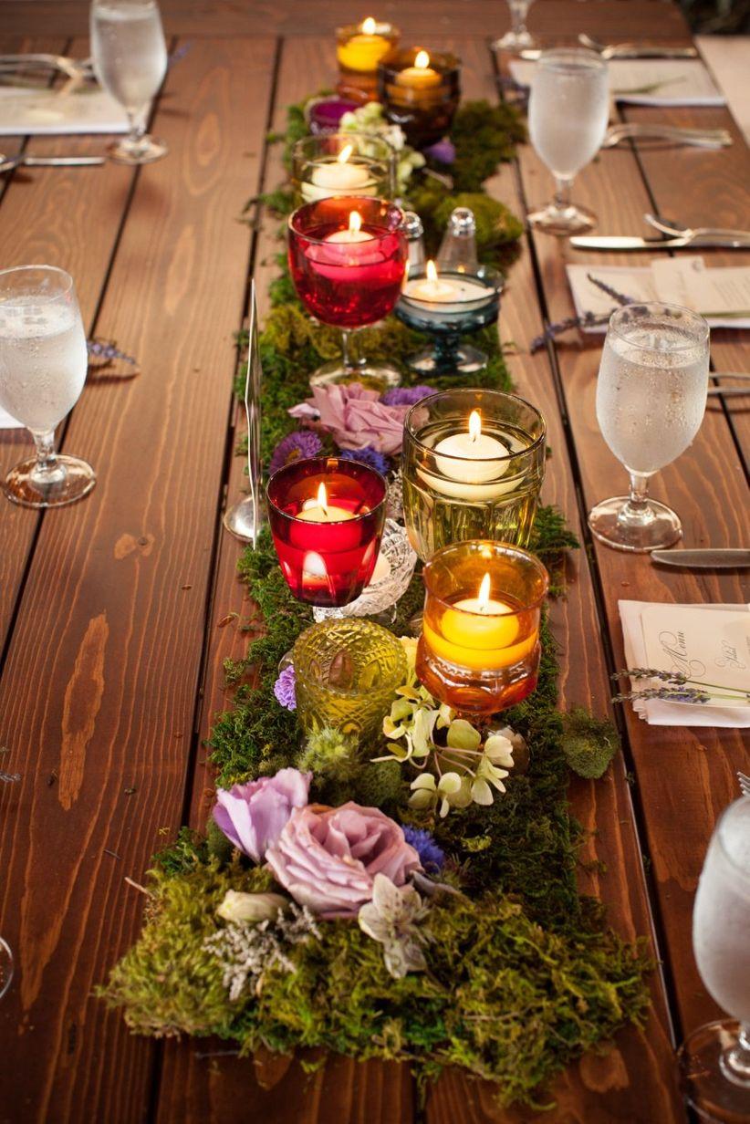 votive candle tablescape