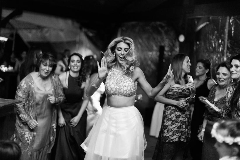 bride dancing at wedding reception