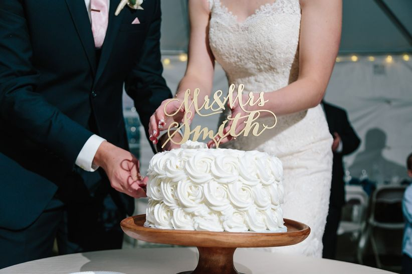 calligraphy wedding cake topper studio phrene