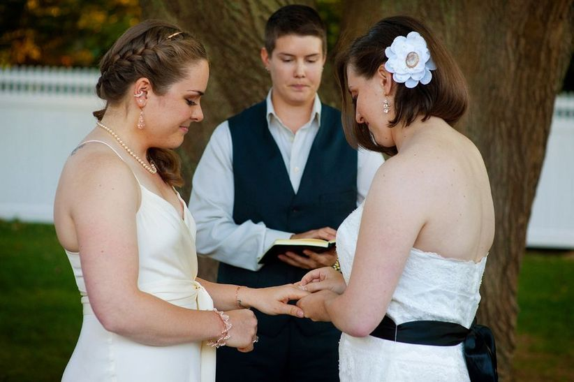 same sex couple wedding ceremony