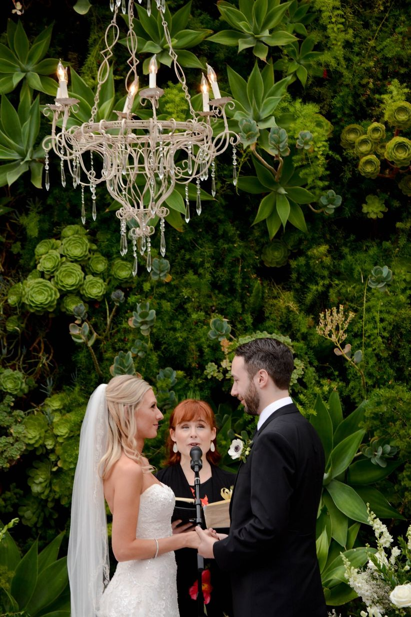 ceremony outdoor chandelier
