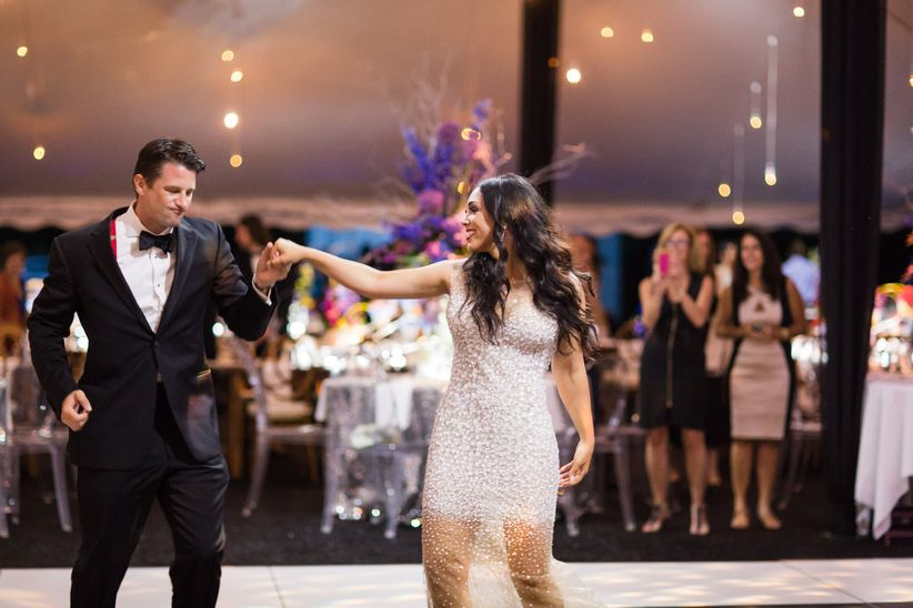 couple performing first dance at wedding
