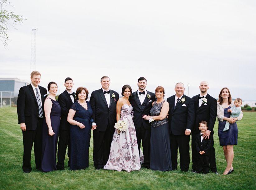 family photo wedding