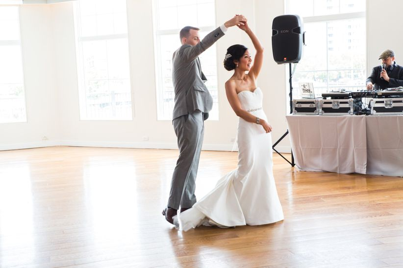 couple performing first dance bfa