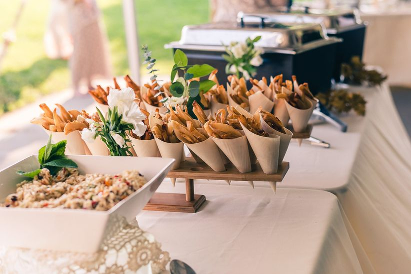 wedding food french fries