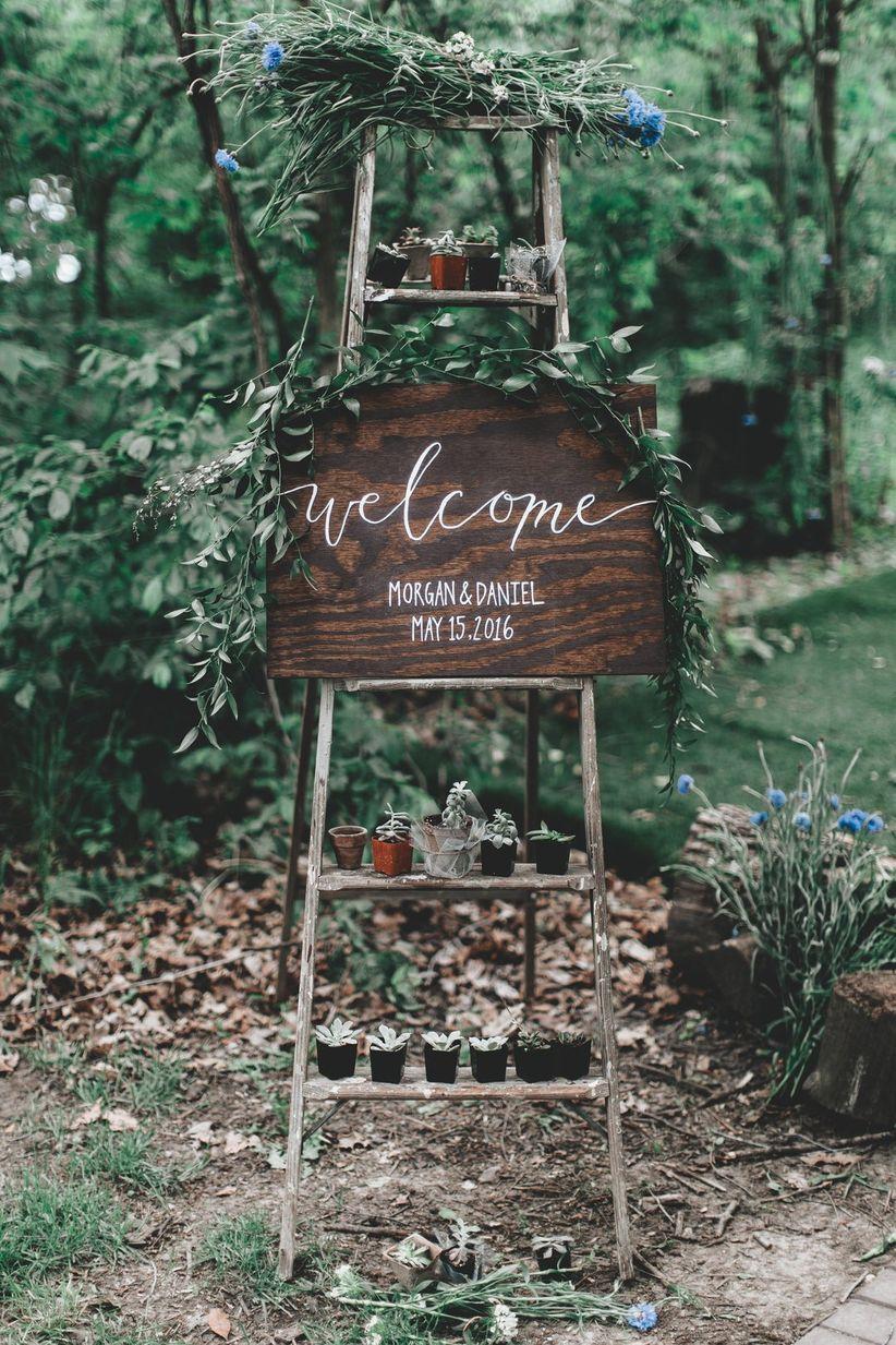 ladder as wedding decor