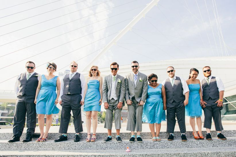 wedding party for same-sex couple