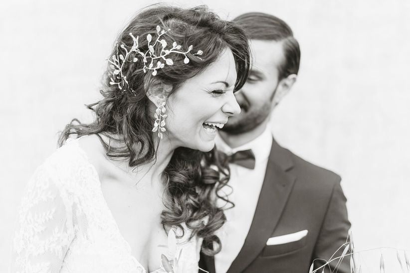 bride and groom candid portrait - wedding photographer linda pauline