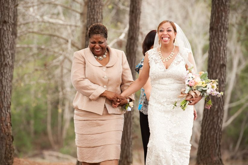bride processional with mother