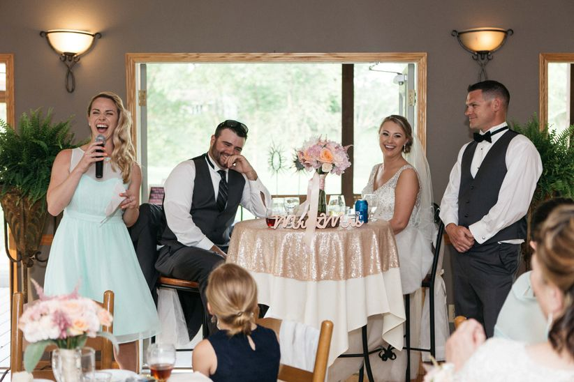 who gives a speech at a wedding weddingwire