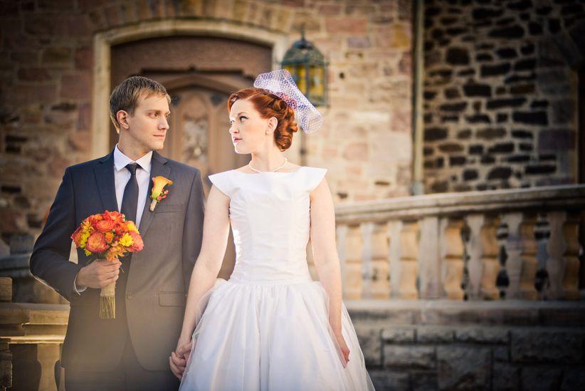 couple halloween wedding elevate photography