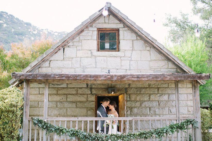 couple in wedding venue