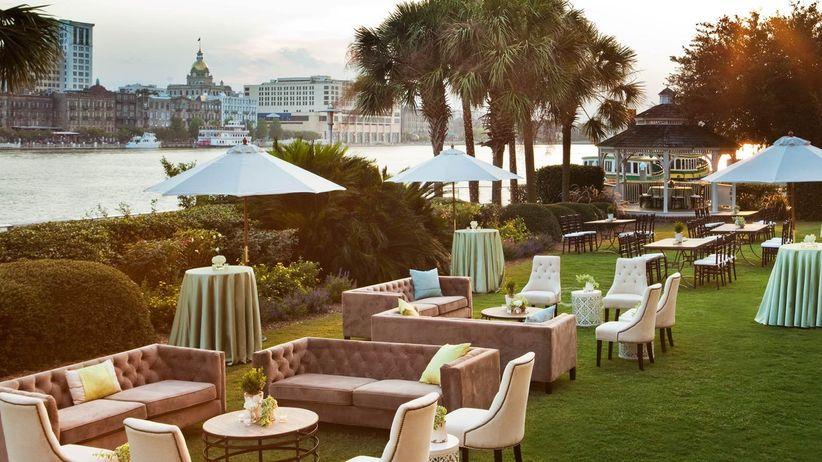 6 hotel wedding venues in savannah ga weddingwire the westin savannah wedding junglespirit Gallery