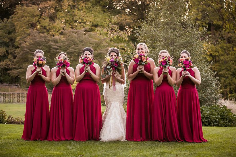 Bride vs bridesmaids who pays for what weddingwire for Paying for a wedding dress