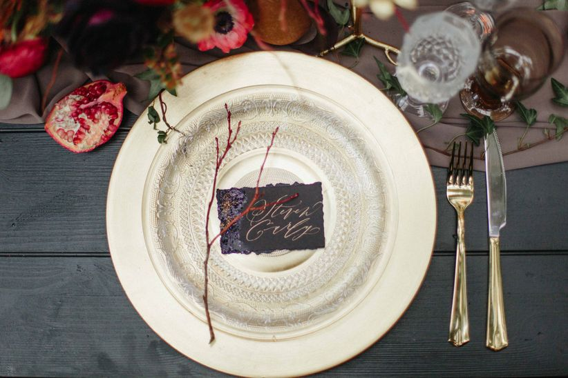silver winter place setting