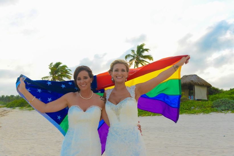 gay wedding ideas rainbow flag