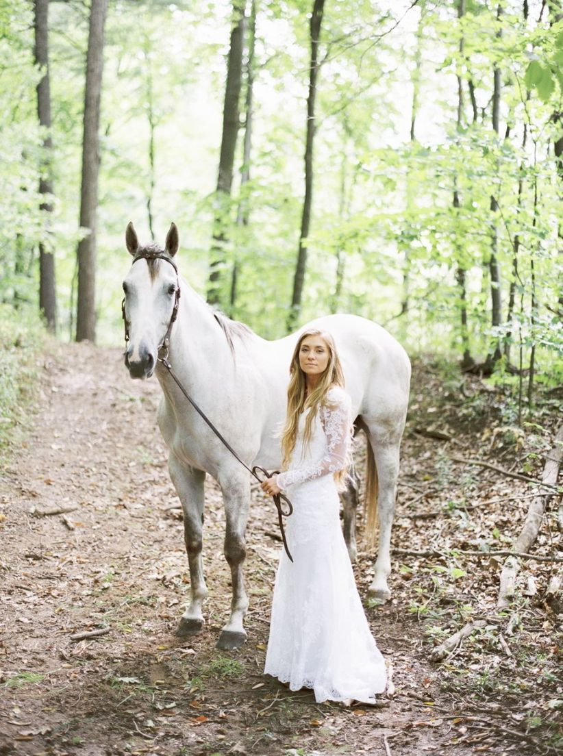 woodland wedding ideas horse