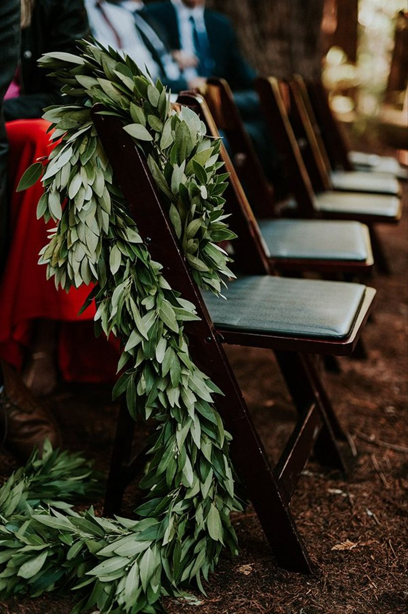ceremony chair greenery