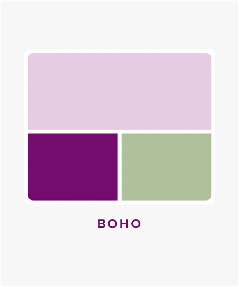 boho wedding color palette