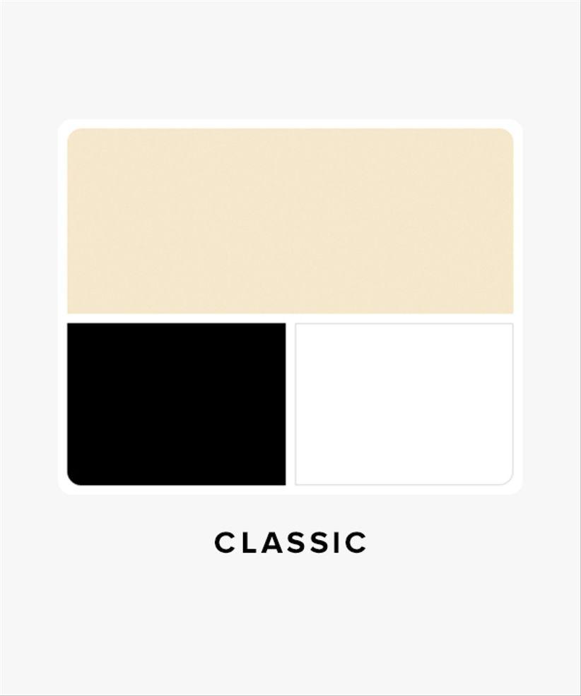 classic wedding color palette