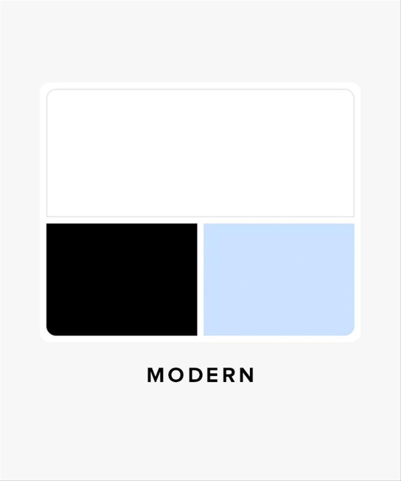 modern wedding color palette