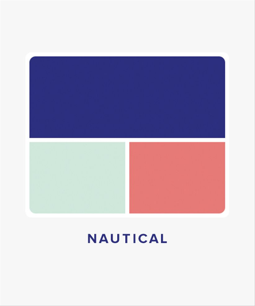 nautical wedding color palette