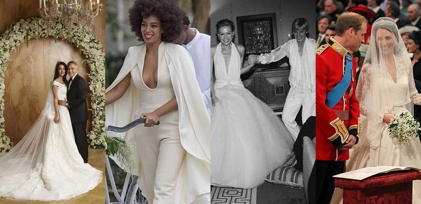 0c9dcd53d8ac6 Celebrity weddings always cause quite a sensation. Photos of celebrity  wedding dresses and their bridal styles are liked and re-shared on  Instagram and ...