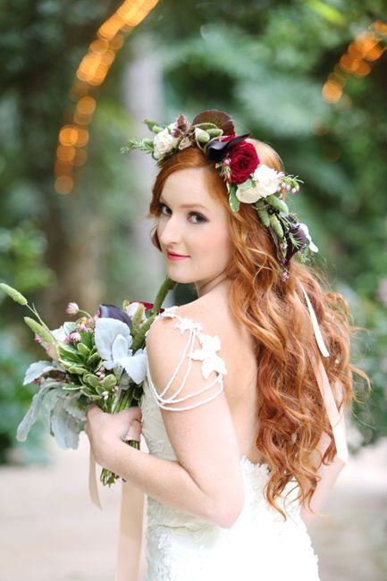Romantic Red and Champagne Garden Styled Shoot
