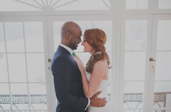 Contemporary Green and White Maryland Mansion Styled Shoot