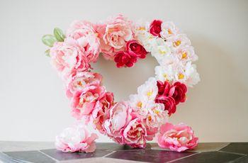 Silk Floral Heart Wreath