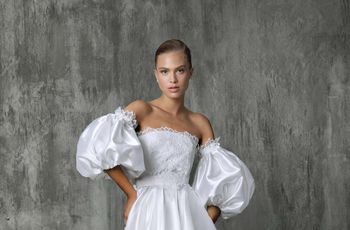 11 Puff Sleeve Wedding Dresses That Make a Serious Statement