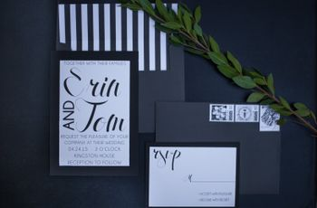 Chic Black and White Styled Shoot