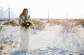 Bohemian Glam California Desert Styled Shoot