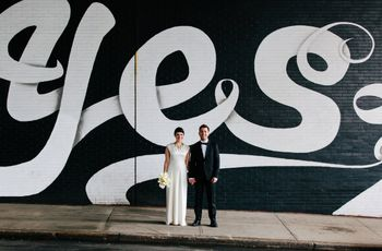 These Walls & Murals Make Epic Wedding Photo Backdrops